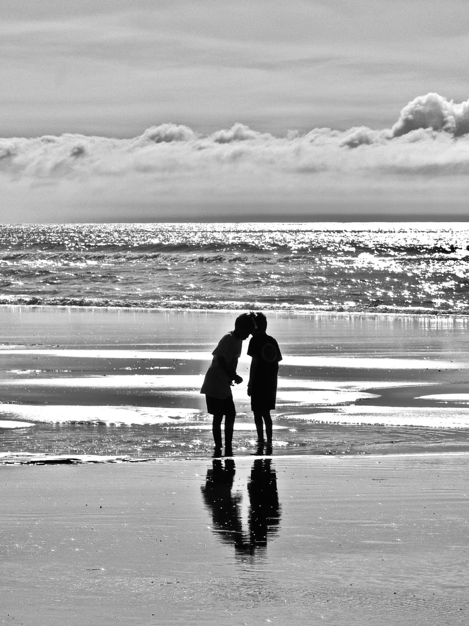 Two Kids at the Beach