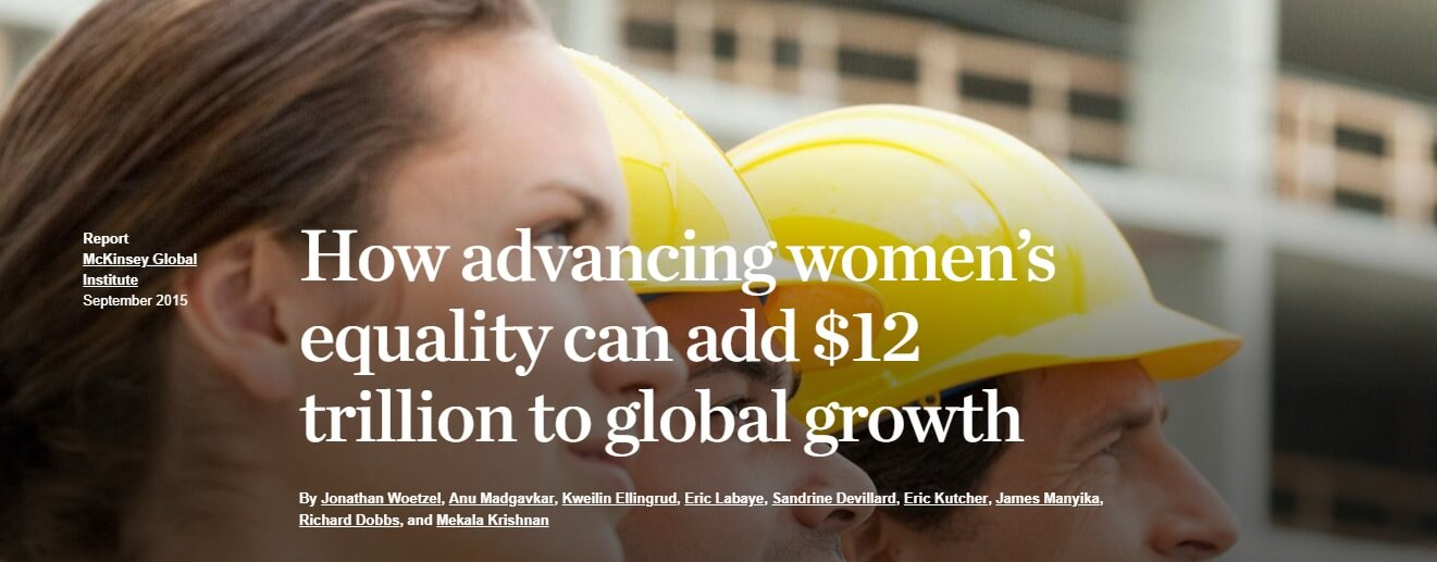 How advancing women's equality can add $12 trillion to