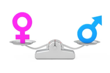 Male and Female Symbols On a Scale