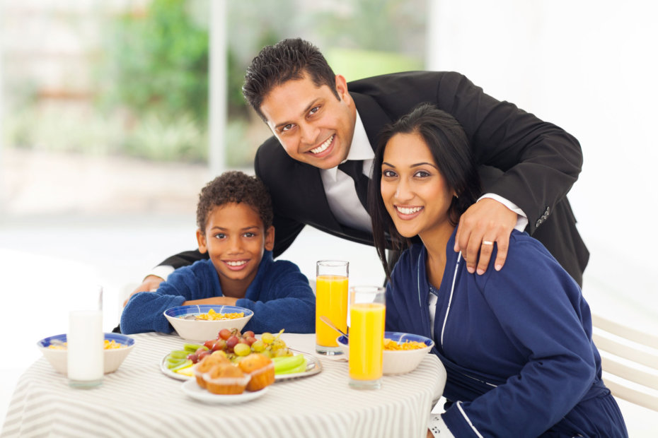 Businessman with Family