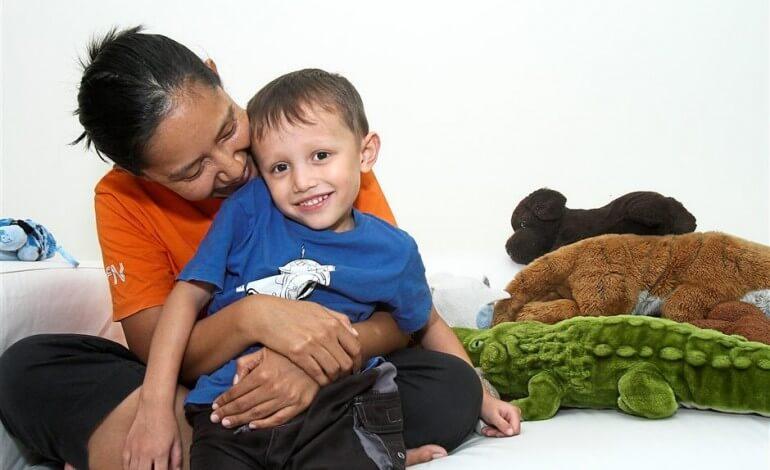 Ayu Abdullah and her son, Dash