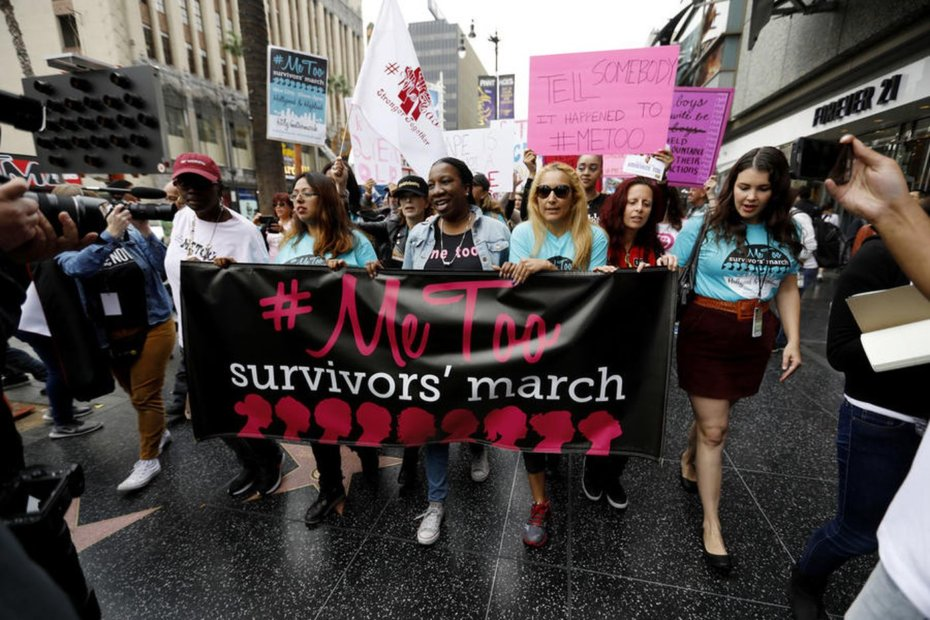 Women Marching at a #MeToo March