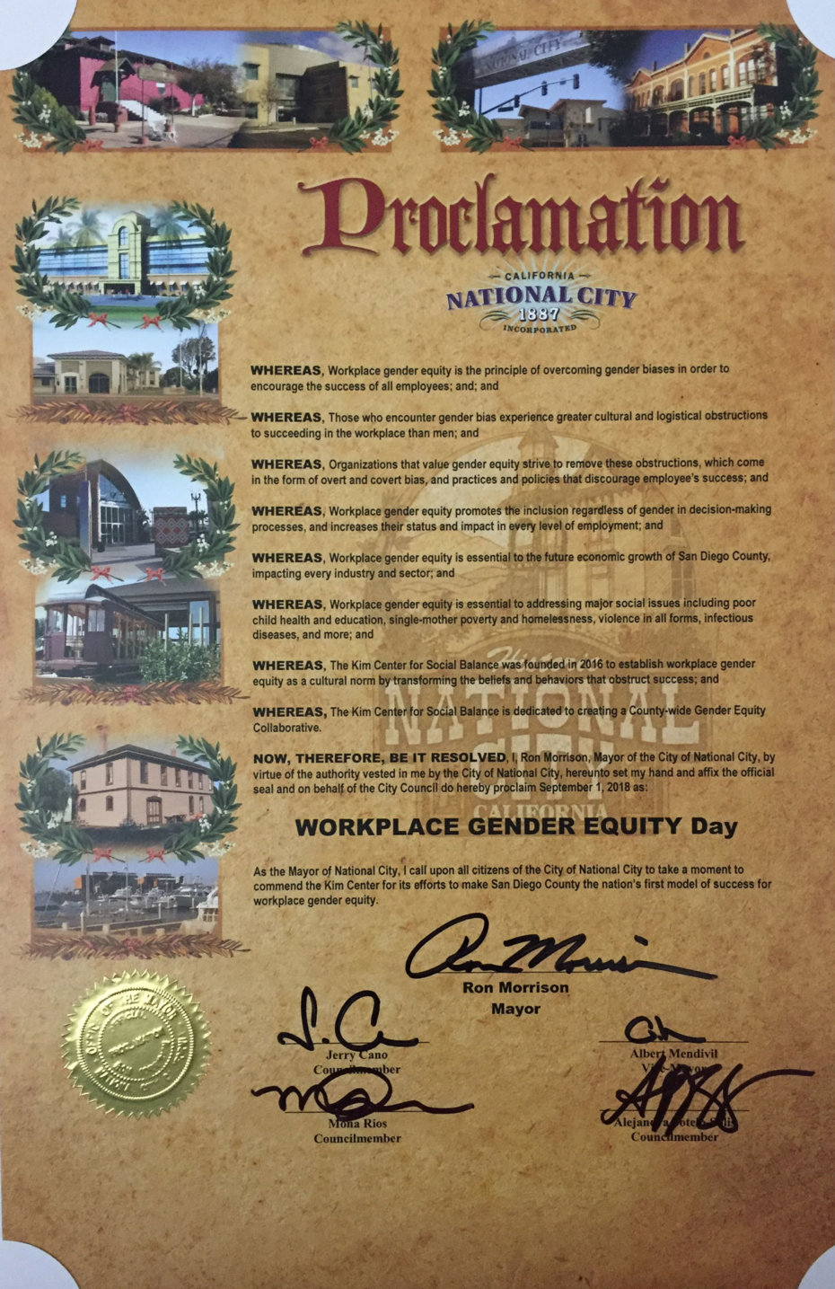National City Proclamation