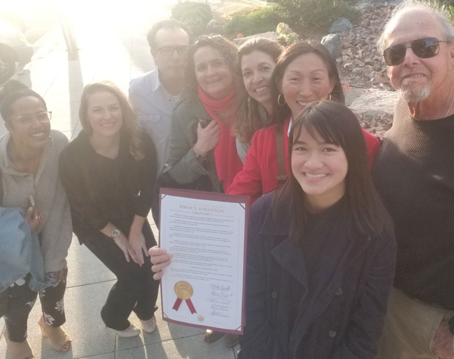 Kim Center Associates at La Mesa's Proclamation for Workplace Gender Equity Day