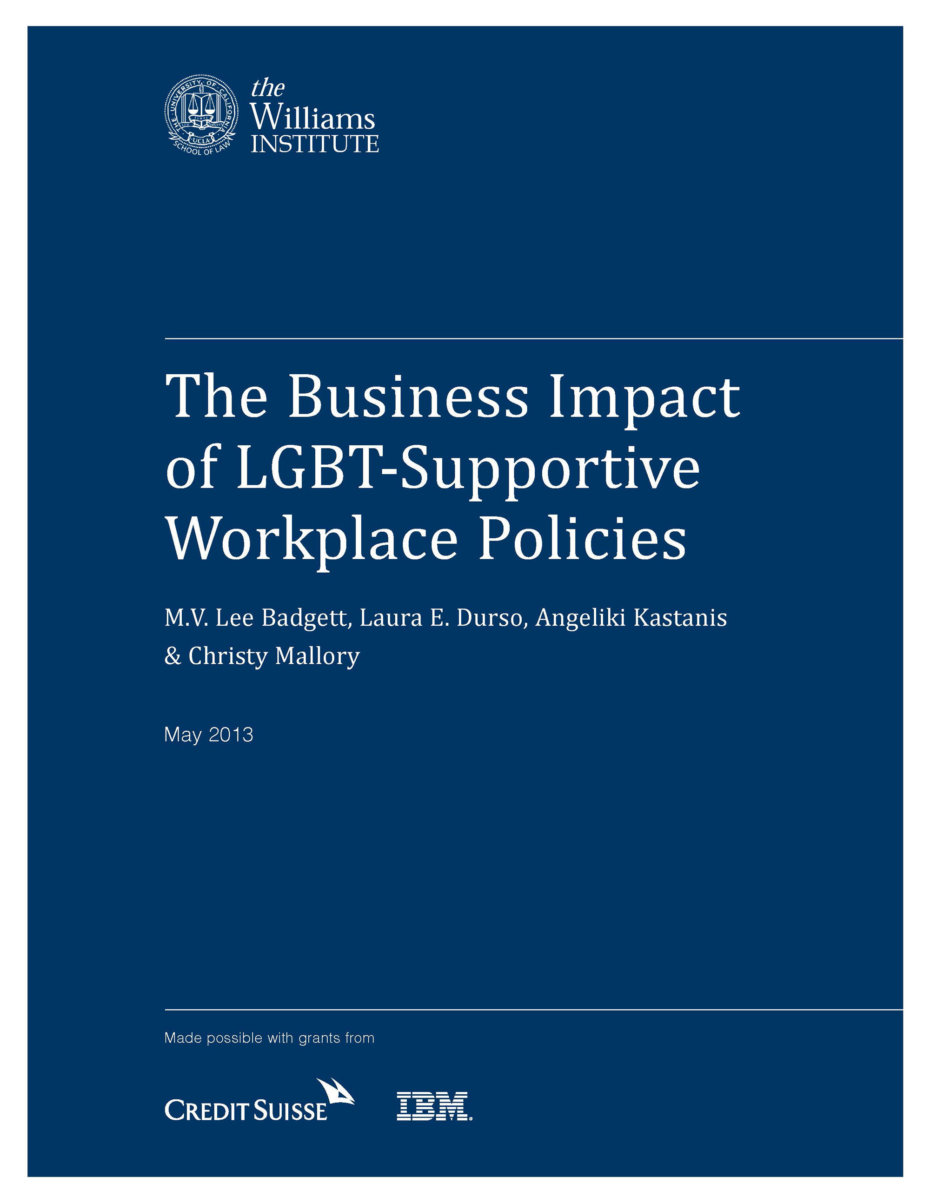 Business Impact of LGBT-Supportive Workplace Policies Cover