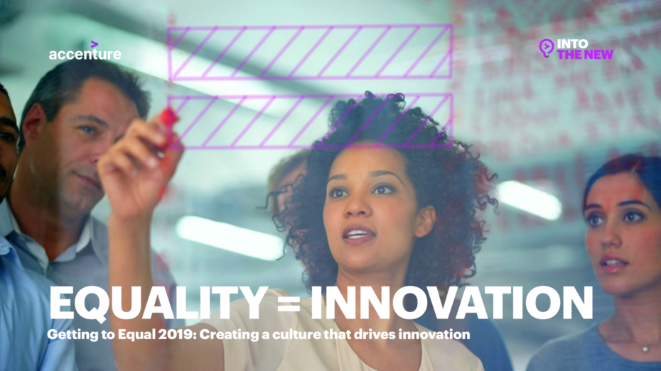 Image Stating Equality = Innovation, by Accenture