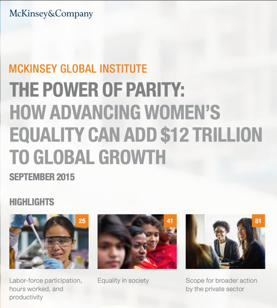 McKinsey Global Institute 2015 Report Cover