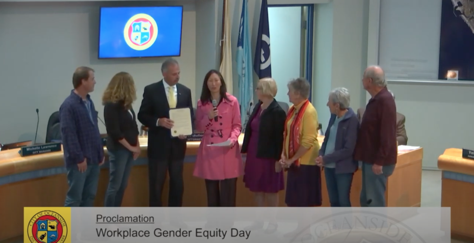 Proclamation of Workplace Gender Equity Day in Oceanside City Hall