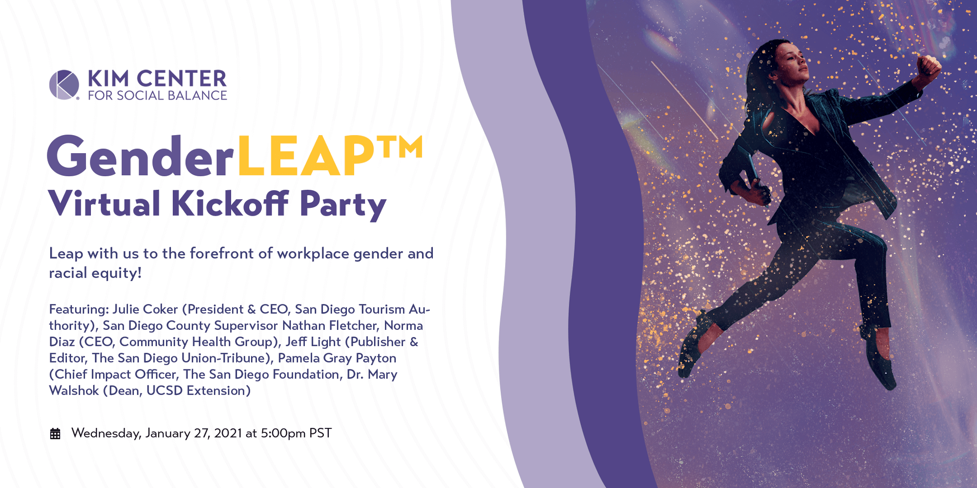 GenderLeap Kickoff Party Details